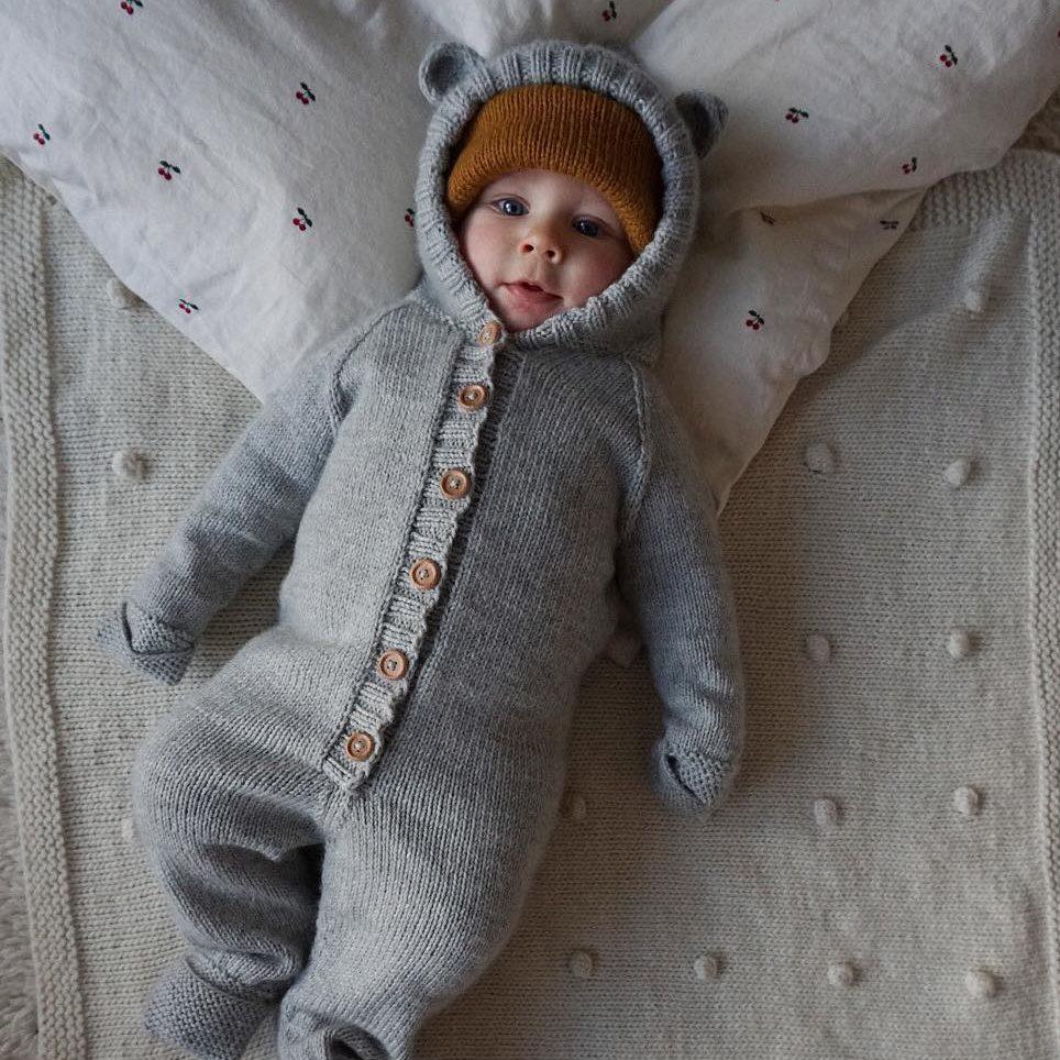 sovedress baby strikk