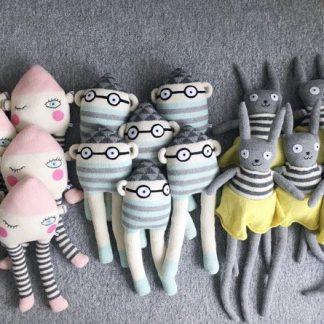 knitted toys, scandinavian design