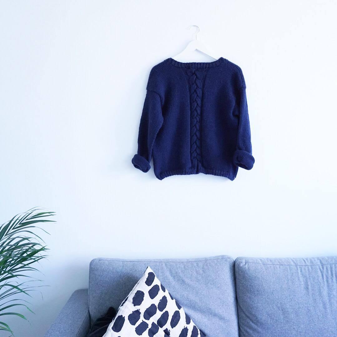strikkeoppskrift Alba genser