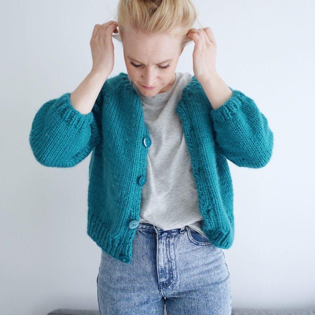 womens knitted jacket knit pattern