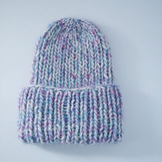 colorful ribbed beanie kit