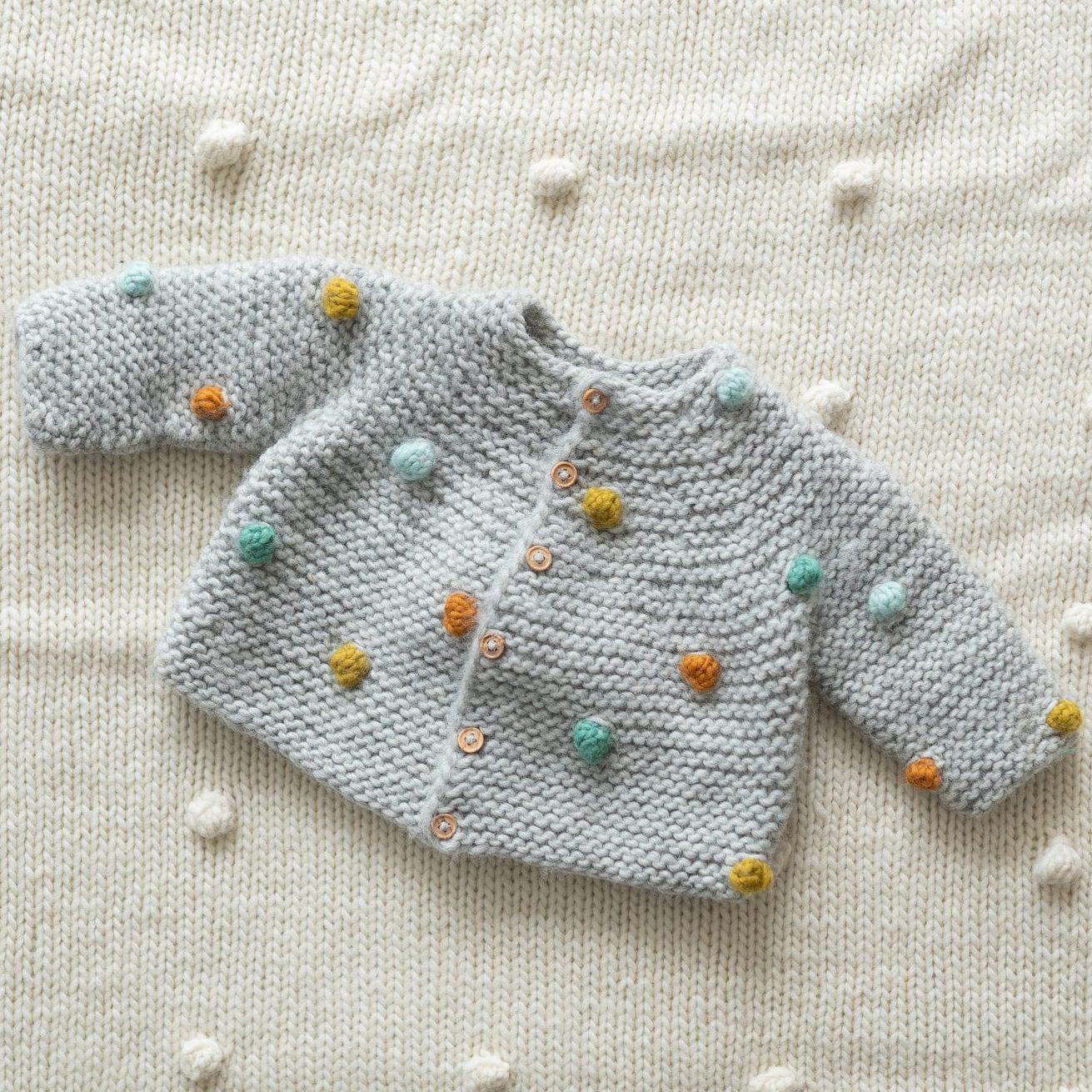 strikkejakke hentesett baby