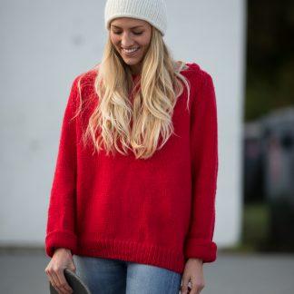 strikkeoppskrift genser dame