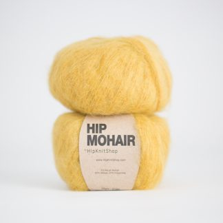 mohair yarn ochre yellow