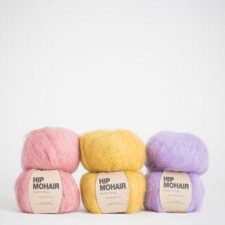 mohair yarn purple