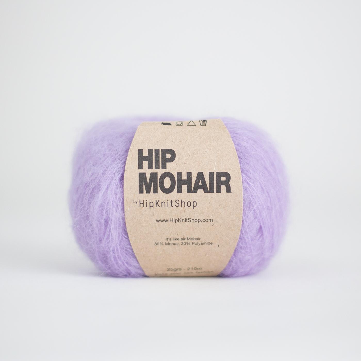 purple mohair yarn