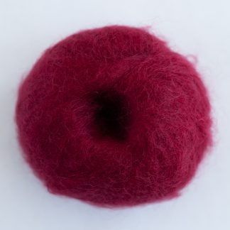 ruby red mohair