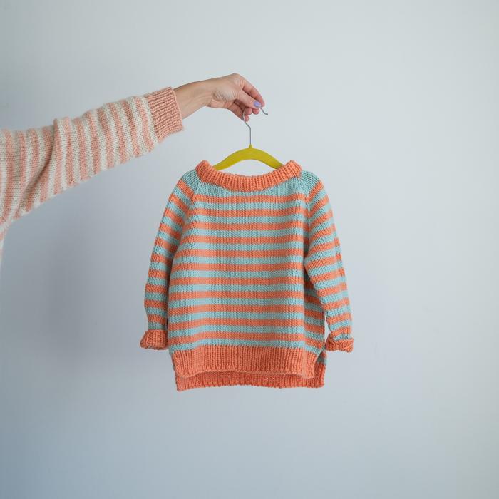stripegenser barn strikkeoppskrift