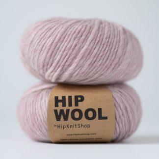 melange wool yarn pink