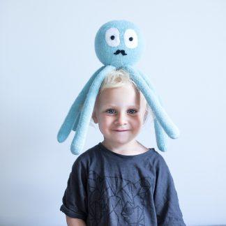 Strikket blekksprut strikkeoppskrift barn