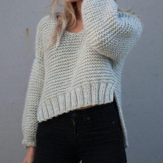 enkel strikkegenser dame