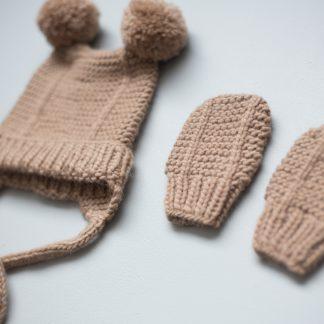 newborn knitting pattern hat mittens