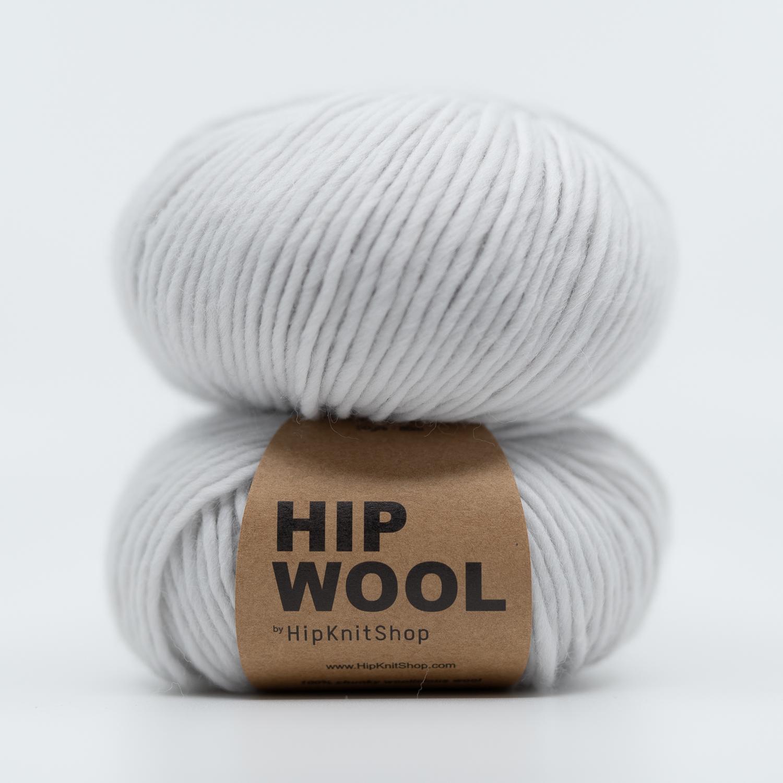 grå garn Hip wool