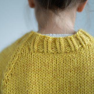 basic raglan sweater kids knitting pattern