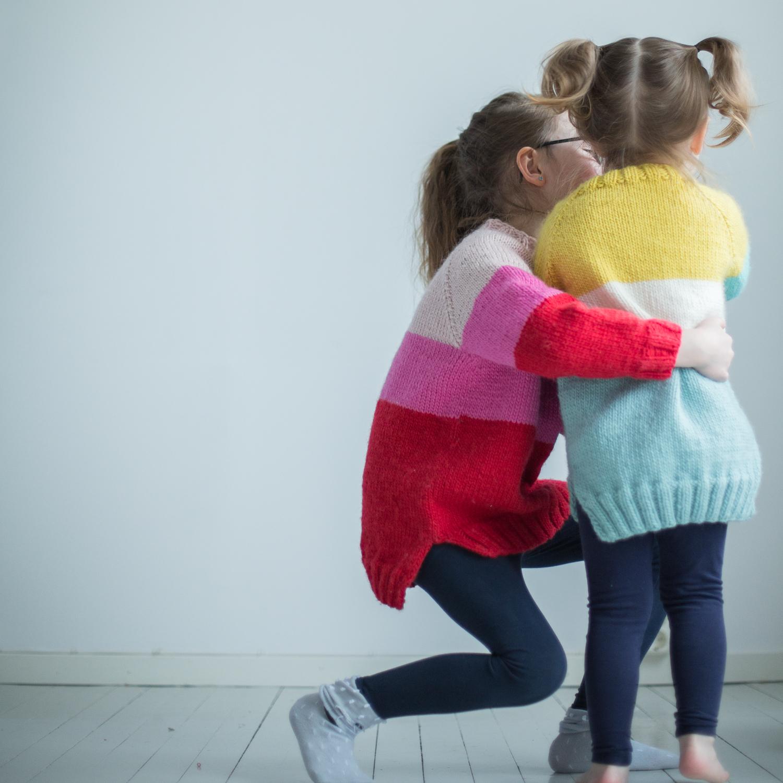 strikkeoppskrift genser barn