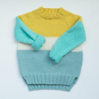 strikkemønster genser jente gutt