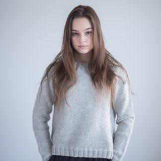strikkemønster genser nybegynner dame