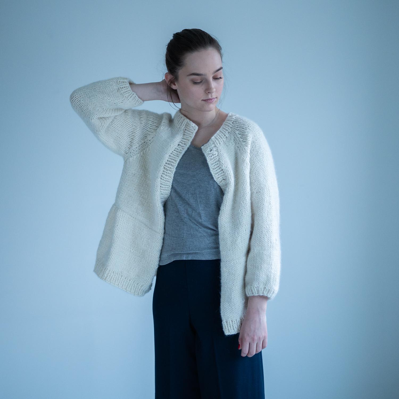 strikkejakke dame mønster