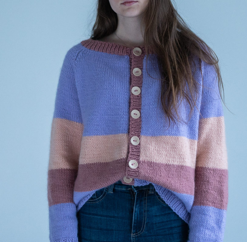 easy knittingpattern womens cardig