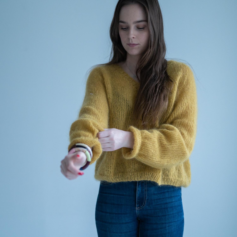 v-neck sweater knitting pattern