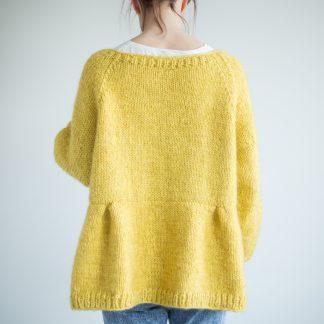 strikkemønster jakke dame lang