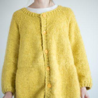 knitting pattern long jacket women