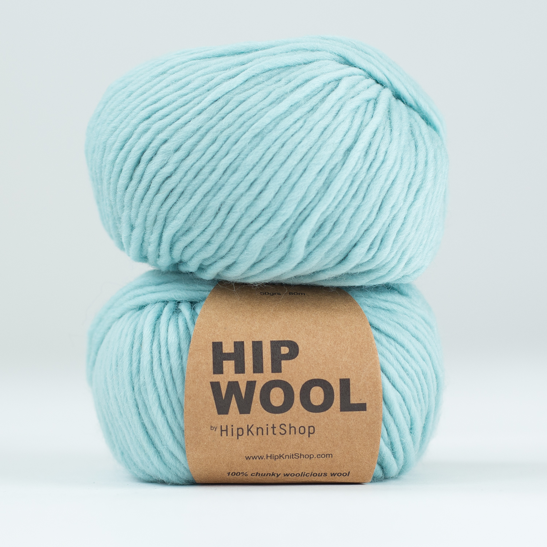 light blue yarn