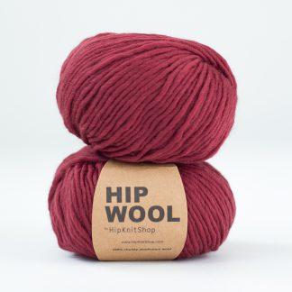 Hip Wool Merlot red yarn