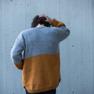 strikket jakke herre , parkenstrikk