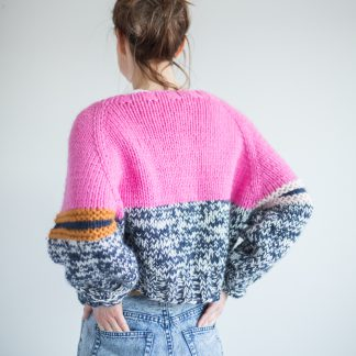 knittngpattern pink cardigan