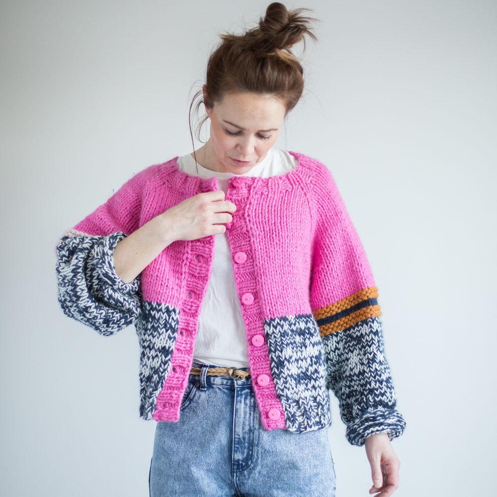 genser dame strikkeoppskrift