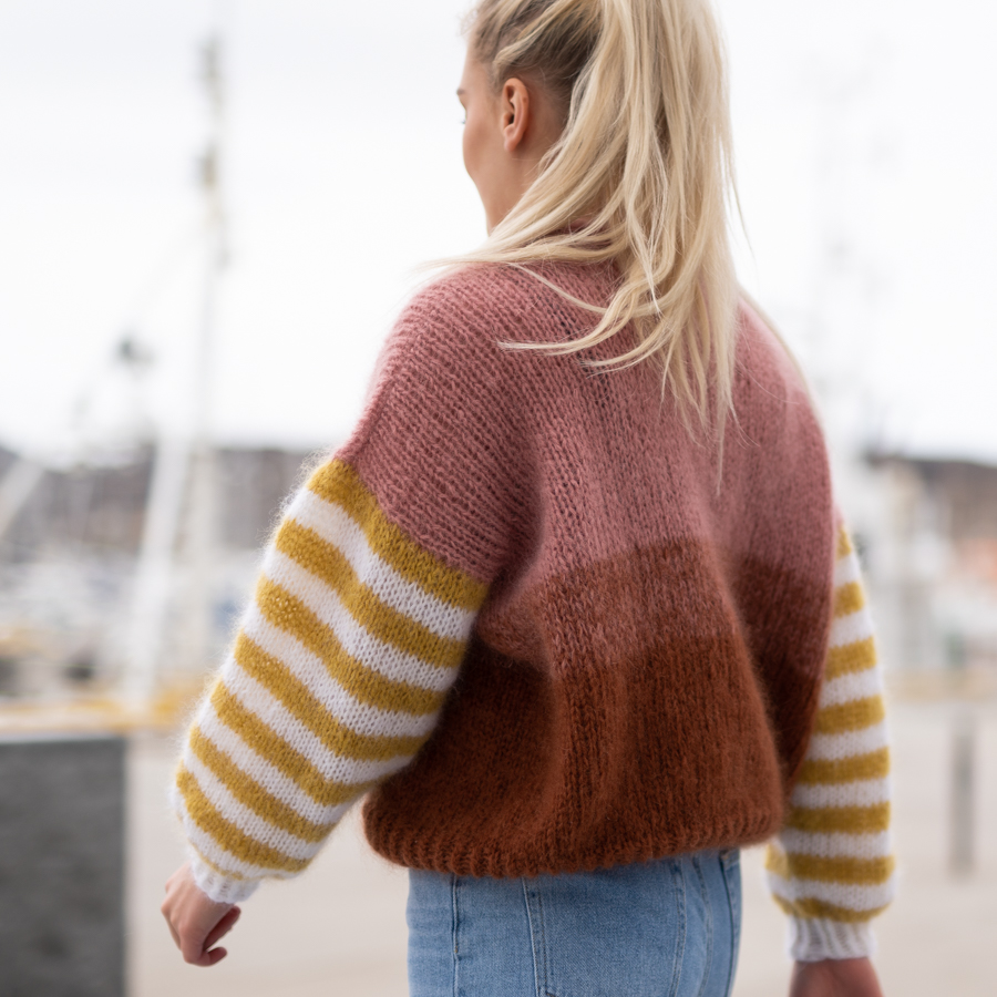 knitting pattern sweater stripes