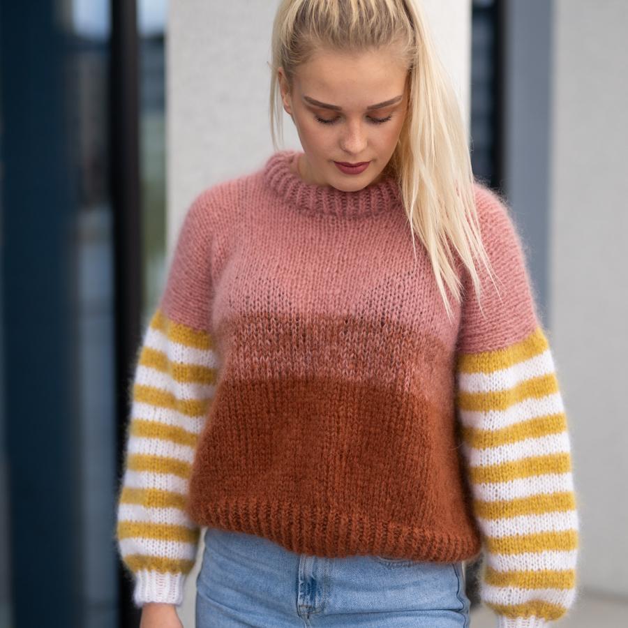 striped sweater women pattern