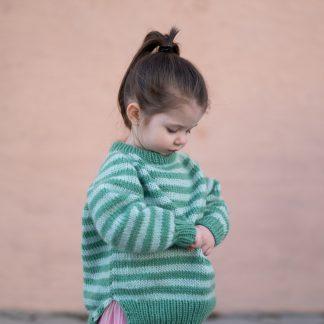 stripestrikk genser barn