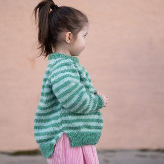 striped sweater kids knitting pattern