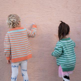 enkel genser barn strikk