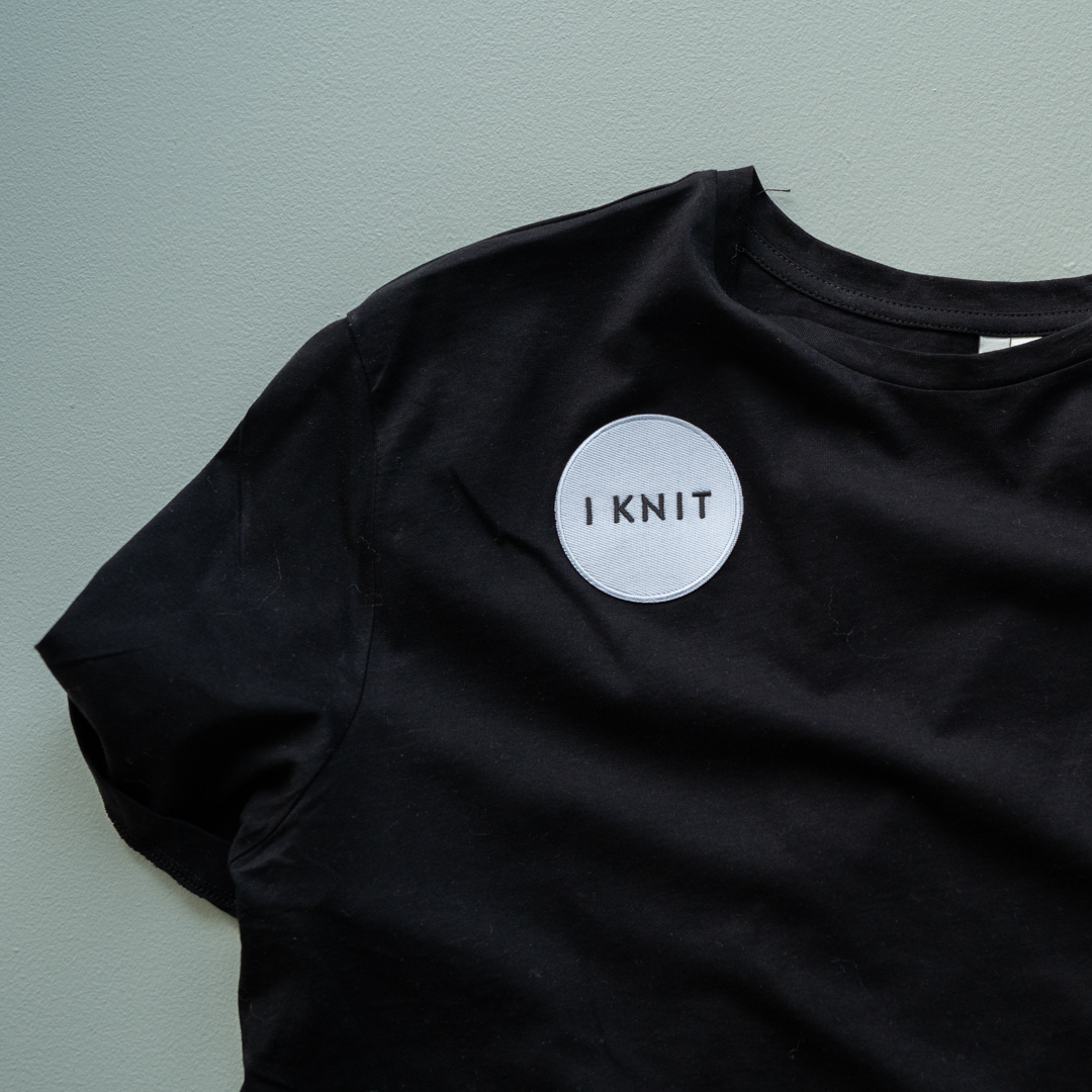 iron on patch round knitting