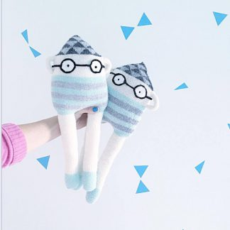 knitted handmade dolls soft toy kosedyr kids design