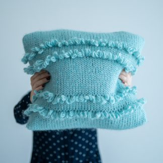 knitted cushion pattern