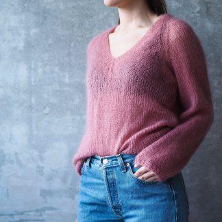 v neck sweater knitting pattern