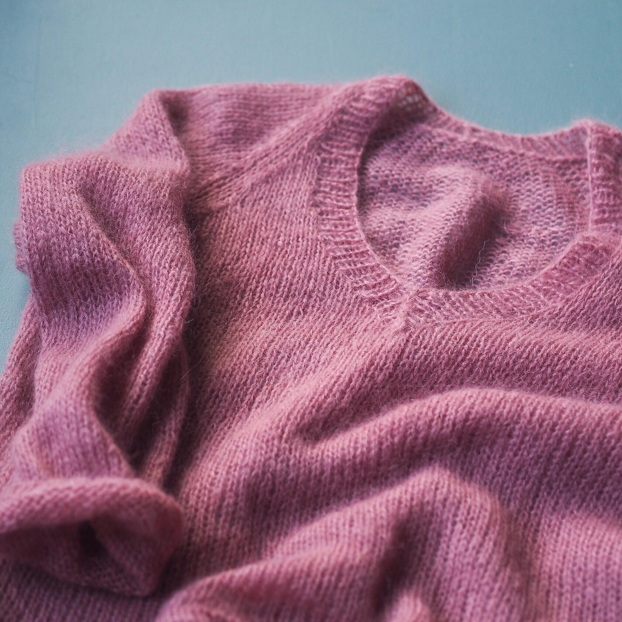 v hals genser dame