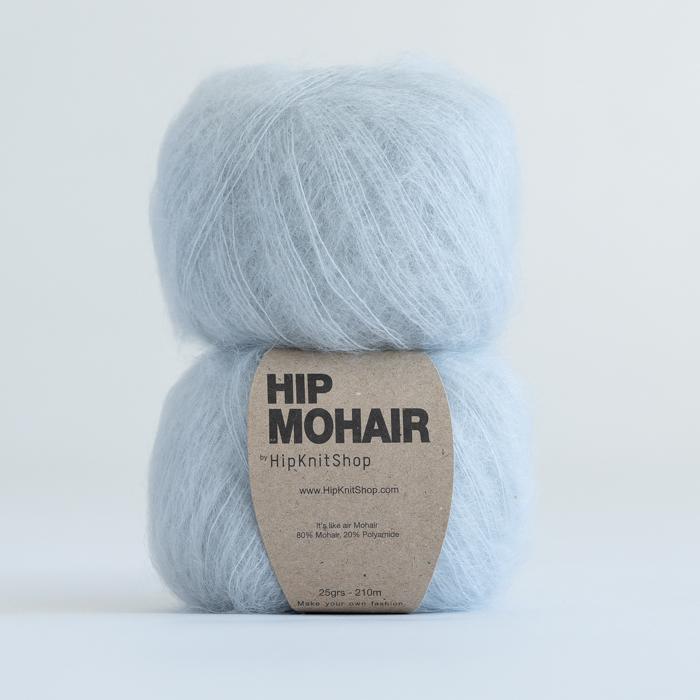 Light grey mohair yarn