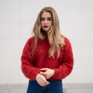 knitting pattern eyelet sweater