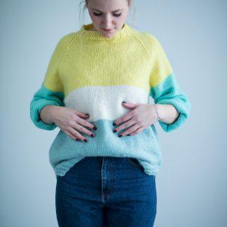 knitting pattern womens sweater stripes jubel sweater
