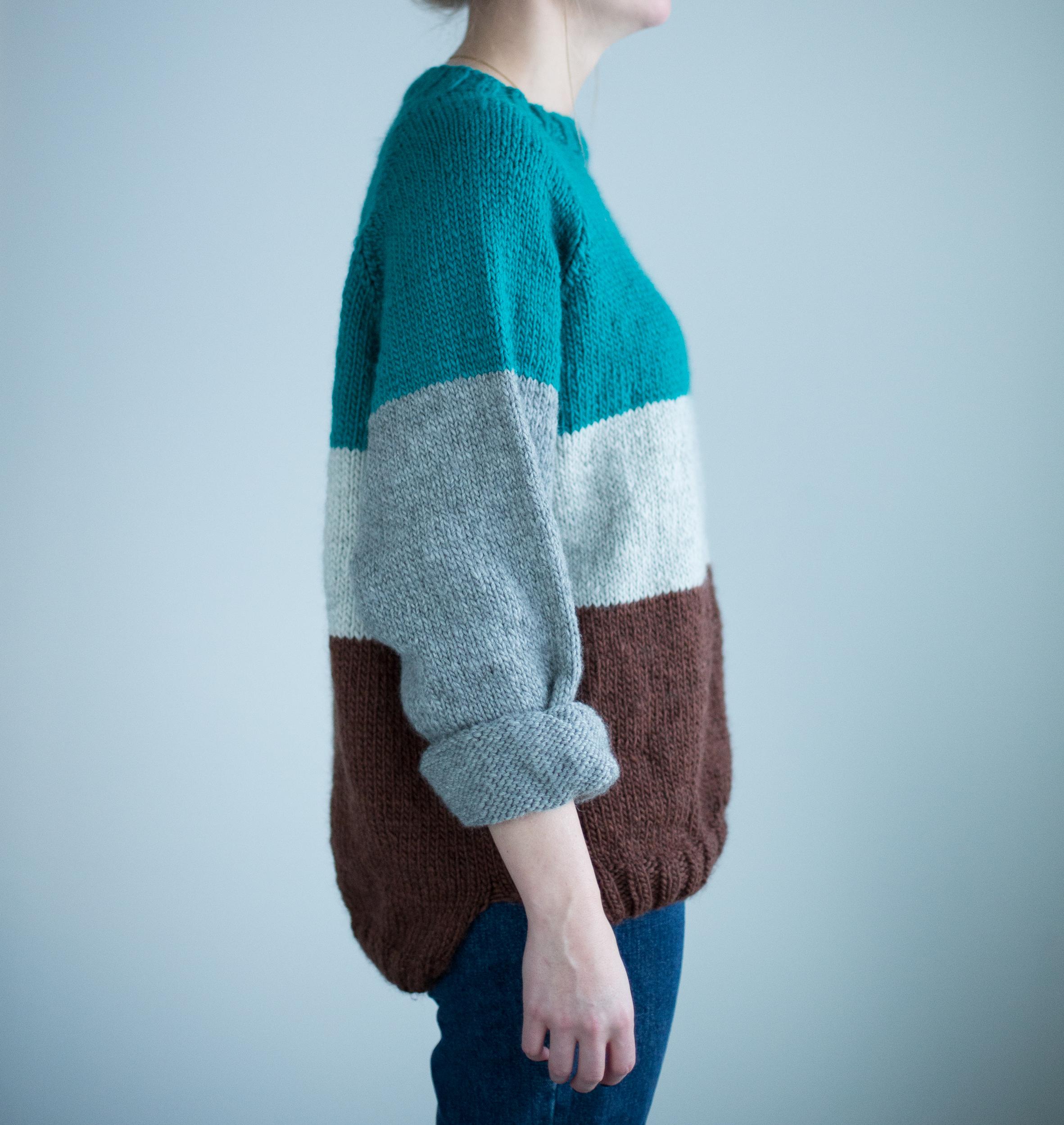 knitting pattern women sweater raglansleeves
